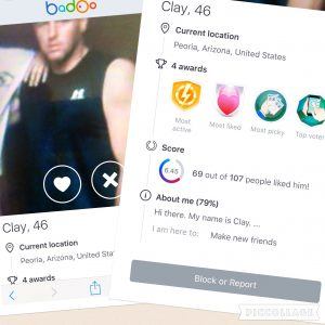 """Photos of Michael """"Clay"""" Basham retrieved from Badoo.com in March 2016"""